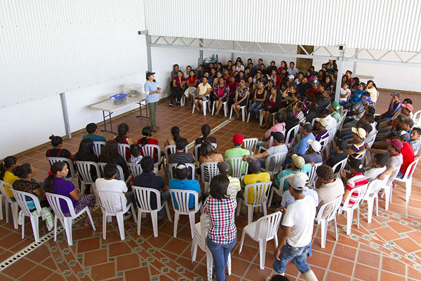 A conservation presentation to a local community